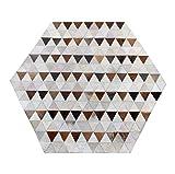 Tapis modernes, tapis de luxe en peau de vache hexagonale de style européen pour le salon Chaise d'ordinateur Chambre à coucher Canapé Table basse Tapis Salle d'étude Tapis à la main Cousant des carpe