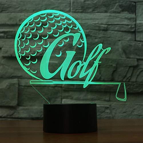 3D Sports Lampe De Table Led 7 Coloré Simulateur De Golf Veilleuse Usb Amoureux Du Golf Cadeau...