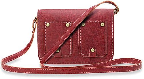 Borsa A Tracolla Da Donna Borsa A Tracolla Messenger Bag Jety Vintage (nero) Cammello