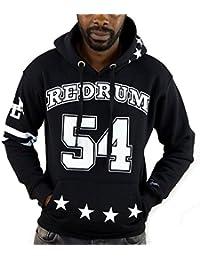 Redrum Hoodie Hoody Pullover Kapuze Herren schwarz weiss gemustert Modell Goetze