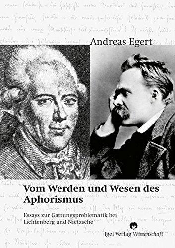 Vom Werden und Wesen des Aphorismus. (Literatur- und Medienwissenschaft)