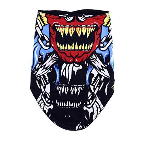 Kostüm Face Muster Ghost - Nortongrace Günstiger Herbst Winter warme Skimaske Schädel im Freien Reiten Winddichte Kaltfang Vlies Dreieck Schal Kragen bib Cycling Face Maske(None 1891)