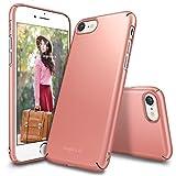 Custodia iPhone 7, Ringke [Slim] Snug-Fit Snella [Tailored Ritagli] copertura della pelle ultra-sottile Scratch Resistant doppio rivestimento leggero Custodia protettiva superiore del rivestimento dura del PC per Apple iPhone 7 - Rose Gold