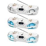 Bluetooth Stereoradio mit CD-Player Tragbar Beatblaster Ghettoblaster LCD-Display Radio USB-Anschluss (Fernbedienung, Equalizer, Disco-Licht, AUX-IN, MP3, Lautsprecher, Weiß)