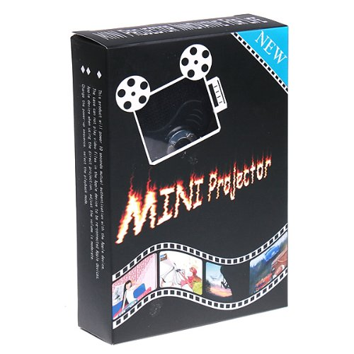 Kingzer Tragbarer Mini Multimedia Pocket Cinema Pico Projektor für iPod iPhone iPad schwarz