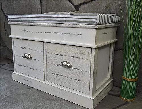 Livitat® Flurbank Sitzbank Schuhbank Landaus Shabby Chic Vintage LV1075