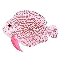 Yeucan Aquarium Simulation Fish Luminous Simulation Ocean Tropical Fish Tank Landscaping Decoration,Powder angelfish,Size 1
