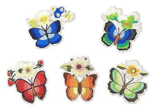 Blue Vessel Der Neue Schmetterling Gestickte Damen-Accessoires Gewebeaufkleber Klebepflaster Aufkleber Dekorativen Volkstanz Kostüm Befestigt