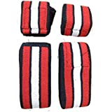 """Wolphy Knee Wraps – Strong Fastening Straps, Durable Stitching – Heavy Duty 60"""" Elastic Compression Knee Straps to Enhance Your Powerlifting"""
