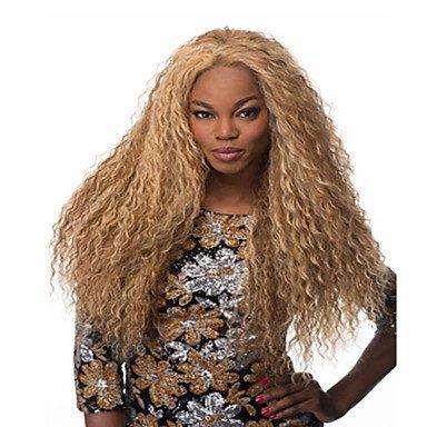 pumaple Hot Verkauf Synthetik Blond Lang Kinky Wave Perücken, blond