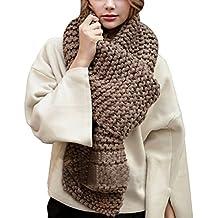 d7d60e0904dd2e Hownew-X Damen Strickschal Lang XXL Warme Grobstrick Schal Oversize  Winterschal, 190 x 32cm