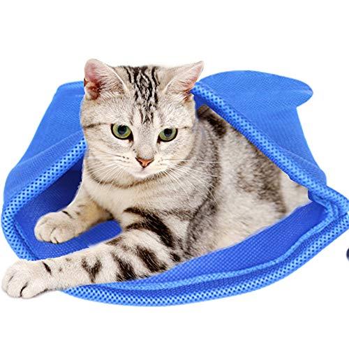 PET SPPTIES Katze und Hund Badetasche Grooming Bag Multifunktionale Wasch zum Waschen von Nägeln, Einspritzen, Anti-Kratzen, Bissfestigkeit PS044 (Blue) -