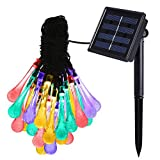 Amir 8 Modes 30 LEDs Water Drop Solar String Lights, 20ft Colorful Christmas - Best Reviews Guide