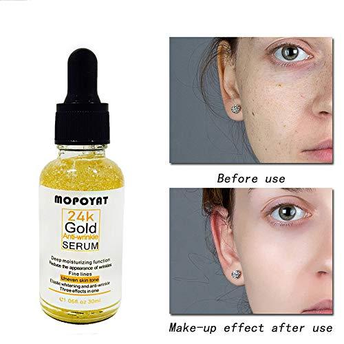 Straffendes Anti Aging Serum 24K Gold Gel Hochwertigsten Hyaluronsäure Herren|Damen Antioxidantien...