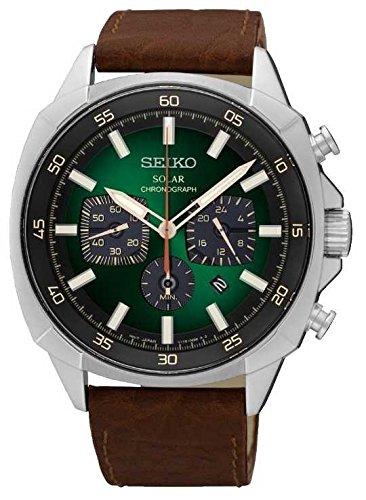 seiko-mens-acnergie-solaire-racflacchissant-cadran-vert-bracelet-en-cuir-ssc513p9