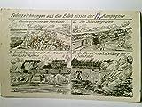 Federzeichnungen von A. Polenz: Aus den Erlebnissen der 12. Kompanie. Alte, seltene Künstler AK s/w, gel. als Feldpost 1916. Militaria, 1. WK