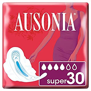 Ausonia Super Pads with Wings 30 unidades