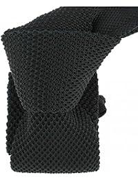 Clj Charles Le Jeune - Cravate Tricot. Noir Charbon