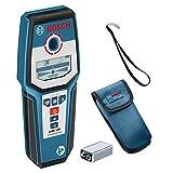 Bosch Professional Rilevatore GMS 120 (Profondità di Rilevamento Max. Legno/Metallo Magnetico/Metallo non Magnetico/Cavi Sotto Tensione: 38/120/80/50 mm, in Scatola di Cartone)
