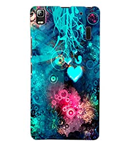 ColourCraft Abstract Image Design Back Case Cover for LENOVO K3 NOTE