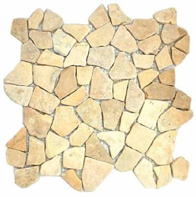 1 qm Marmor Bruch Mosaik braun von Gastromia - TapetenShop