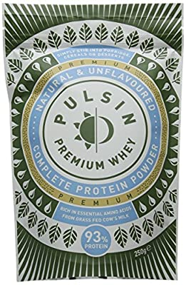 Pulsin' Unflavoured Whey Protein Powder 250g (Isolate)  93% Protein   Gluten Free   Natural   Grass Fed by Pulsin Ltd