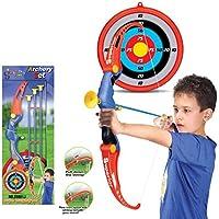 Mecotech Arcos y Flechas para Niños 5 Piezas Set Arco Flechas Juego de Disparos de Juguete