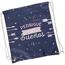 """Bolsa tipo mochila """"Persigue tus sueños"""". 43x39 cm. Poliester."""