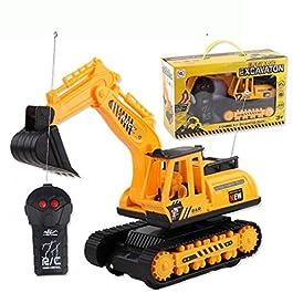 Dieron Telecomando Elettrico a 2 canali per Escavatore per cingoli Giocattolo per Bambini Accessori