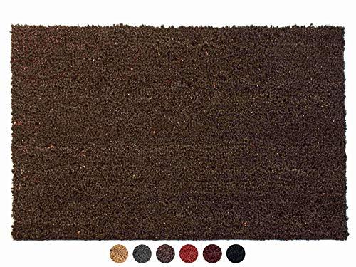 Primaflor - Ideen in Textil Kokosmatte Fussmatte Braun 50 x 80 cm Fußmatte Kokos Schmutzfangmatte Haustür Innen & Außen, Sauberlauf