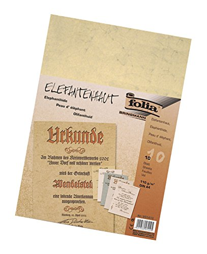Folia 951410 - Elefantenhaut, 110 g/m², DIN A4, 10 Blatt, chamois