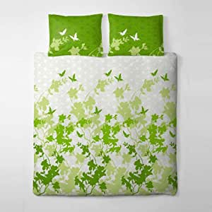 2 tlg et rea premium baumwolle bettw sche einzelbettgr e osaka schmetterlinge blumen jade lime. Black Bedroom Furniture Sets. Home Design Ideas
