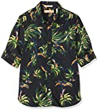 Scotch & Soda Shrunk Jungen Hemd Regular FIT All-Over Printed Shirt in Lightweight Cotton Qua Mehrfarbig (Combo U 600) 152 (Herstellergröße: 12)