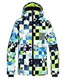 Quiksilver Mission Printed Youth, Snow Jacket Bambino, Lime Green/Money Time, 10/M