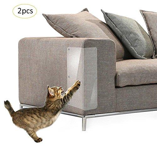 Gaeruite 2 pcs Pet Scratch CouchProtecteur, Garde Scratch Meubles, Anti-Scratching Sofa Pad Protection Pad Meubles Protégé Rembourré Protecteu