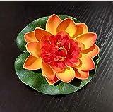 Künstliche Lotus Seerose Künstliche Pflanzen Künstliche Blumen Schaum Seerose Blume Dekor Schwimmende Teich Pflanzen Gef?lschte Lotus 2 Stück