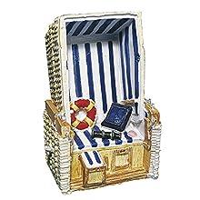 Rayher Polyresin Beach Chair, 11 cm, Multicolour, 9 x 4.5 x 4.4 cm