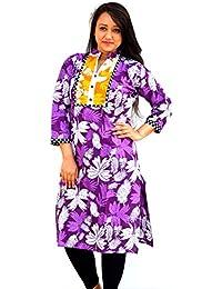 Aarti Collections Flower PurpleStylish Kurti