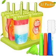 Joylink 6 Piezas Moldes de paletas, Molde para helados helado de silicona para Niños Lolly