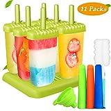 Joylink 6 Piezas Moldes de paletas, Molde para helados helado de silicona para Niños Lolly Maker Moldes de pop DIY para Polos Caseros Moldes de Paleta Frozen Yogurt Helado Pop Mold Popsicle