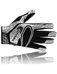 Cutters S251 REV 2D les gants de football américain, receveur, noir