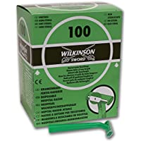 Wilkinson Hospital - Caja dispensadora de 100 cuchillas de afeitar desechables