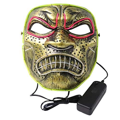 YA-Uzeun Halloween-Horror-Maske mit LED-Licht, für Festival, Cosplay, Kostüm, Maskenball, Aktivitäten und - Xbox Remote Kostüm
