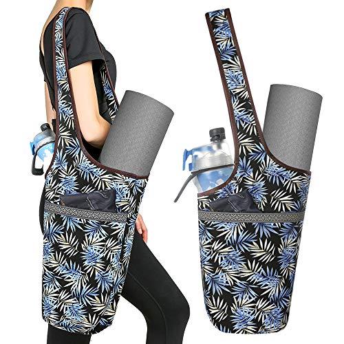 S SUNINESS Yogamatte Tasche - mit großer Tasche und Reißverschluss Tasche, passend für die meisten Größe matten (Bambus)