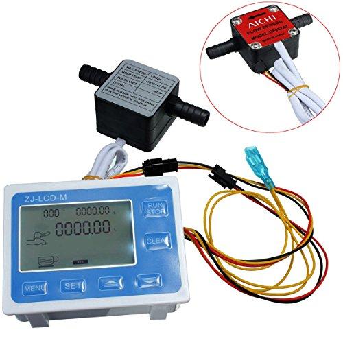 Tutoy Hochpräziser Flüssig Zahnrad Sensor Lcd Digital Fow Meter Quantitative Kontrolle