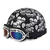 FREESOO Helm mit Schutzbrille für Motorradfahrer Kreuzer Roller Touren Helm