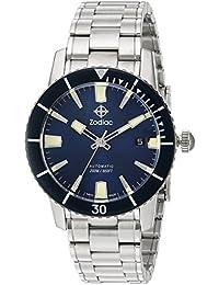 d79399c13190 Zodiac  Super Mar del Hombre Lobo 53 Comp  Swiss automático Reloj Casual  Acero Inoxidable