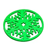 Greenlans Green Snowflake Coasters Drink Coffee Tea Cup Mat Pad Christmas Dinner Table D