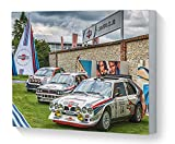 Impression sur toile art mural Le sport automobile Martini Drivers Club Lancia Delta S4 Lancia HF Integrale Ford Focus WRC Goodwood festival de la vitesse 2017...