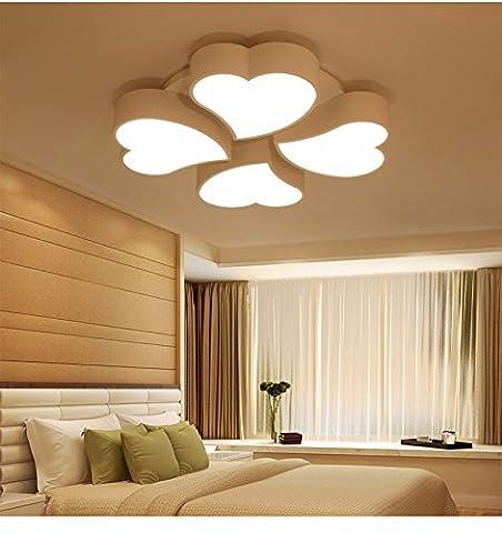 LoveScc Personnalisez votre maison l'éclairage créatif Garçons Filles Prix et lampes d'éclairage minimaliste Ledmodern Cœur chaud de la lampe salle des mariages plus diamètre70CM64W gradateur 3 couleurs